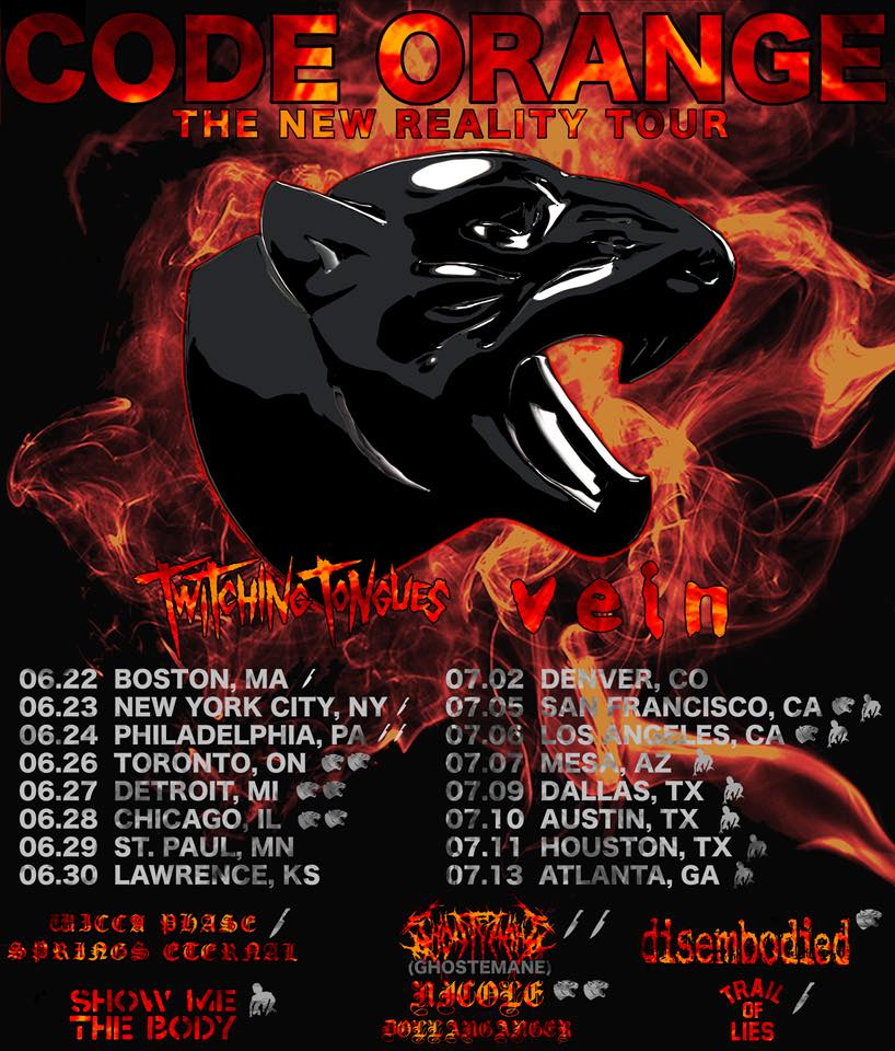 """Event Coverage: Code Orange """"The New Reality Tour"""" July 13th, 2018"""
